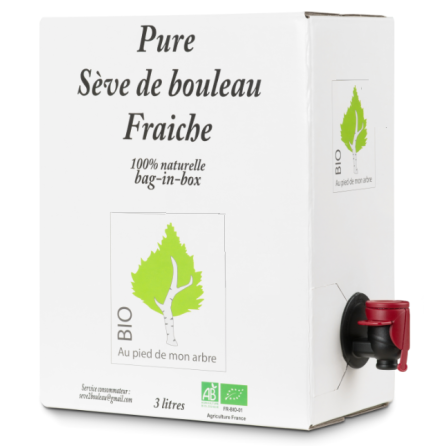 Sève de bouleau fraîche bag in box 3L