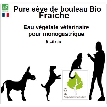Sève Fraiche bio 5L bidon pour animaux domestique