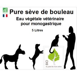5L bidon de sève de bouleau bio conservation pour animaux domestiques
